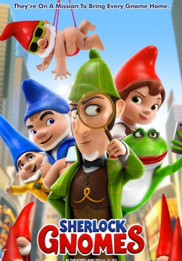 Risultati immagini per immagini del film sherlock gnomes